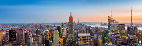 De horizonpanorama van New York stock foto