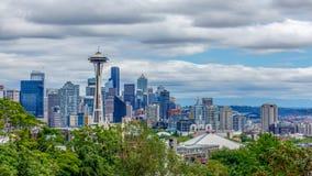 De Horizonpanorama van Seattle royalty-vrije stock fotografie