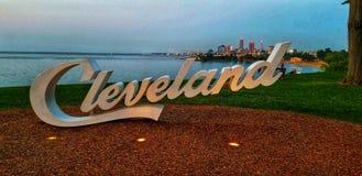 De horizonpanorama van XXL Cleveland stock afbeeldingen