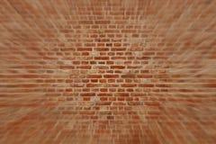 De horizontale achtergrond van de Bluredbakstenen muur met rode, oranje en bruine bakstenen Stock Afbeeldingen