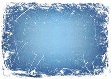 De horizontale achtergrond van het grungedenim Vector Illustratie