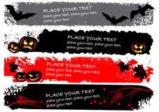 De horizontale banners van Halloween Royalty-vrije Stock Foto's