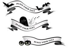 De horizontale banners van Halloween Stock Afbeelding