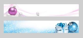 De horizontale banners van Kerstmis Stock Fotografie
