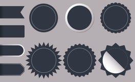 De horizontale en ronde stickers van de vormcirkel voor nieuwe en beste het productmarkeringen, kenteken, etiketten of verkoop va royalty-vrije illustratie