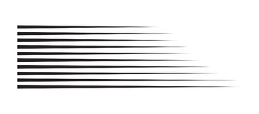 De horizontale lijnen van de motiesnelheid voor grappig boek royalty-vrije illustratie