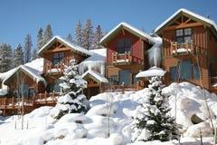 De horizontale mening van de de winterberg van de Winterpark, Colorado stock fotografie