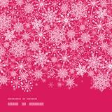 De Horizontale Naadloze Grens van de sneeuwvloktextuur Stock Fotografie