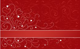 De Horizontale Streep van de valentijnskaart royalty-vrije illustratie