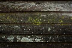 De horizontale Textuur van Planking van de Schuur Houten Muur Teruggewonnen Oud Hout stock foto's