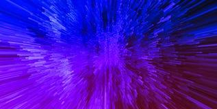 De horizontale trillende roze purpere 3d digitale explosie van de kubusplaneet Royalty-vrije Stock Afbeeldingen