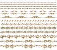 De horizontale vector van de elementendecoratie Royalty-vrije Stock Foto's