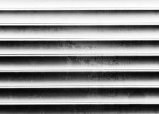 De horizontale zwart-witte uitstekende achtergrond van de metalltextuur Stock Afbeelding