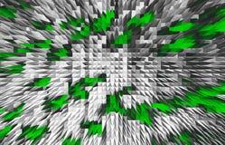 De horizontale zwarte witte groene zaken van kalkpiramides Royalty-vrije Stock Foto's