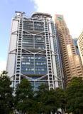 De Horizonwolkenkrabber van HSBC Standard Chartered Hong Kong Central Financial Centre Stock Afbeelding