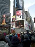 De Horloges van de Menigte van het Times Square Stock Fotografie