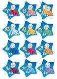 De horoscoop van het kind op de tekens van dierenriem Royalty-vrije Illustratie
