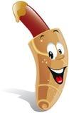 De hotdog van het beeldverhaal Stock Afbeelding