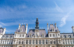 de hotel巴黎ville 免版税库存图片