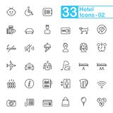 De hoteldiensten en de Pictogrammen van het Reisoverzicht Stock Afbeelding