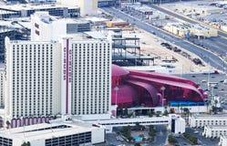 De Hotels en de Casino's het hoogste landschap van de meningsstad van Las Vegas tijdens clou Royalty-vrije Stock Afbeeldingen