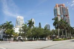 De hotels van de hemelschraper in Miami Royalty-vrije Stock Foto