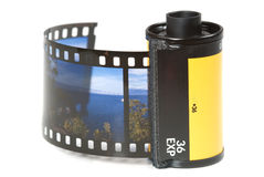 De houder van de film stock afbeeldingen