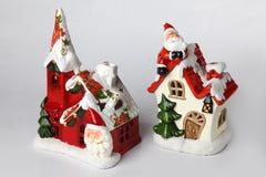 De houders van de kaars voor Kerstmis 3 Stock Foto's