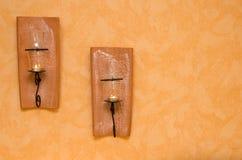 De houders van de muurkaars Royalty-vrije Stock Fotografie