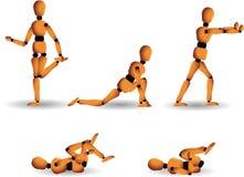 De houding van de gymnastiek Stock Afbeeldingen