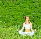 De houding van de yoga Stock Fotografie