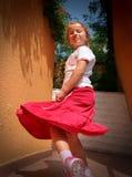 De houding van Girly Stock Foto
