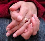 De houding van handen Stock Afbeeldingen