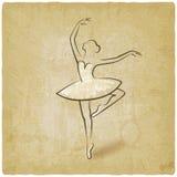 De houding van het schetsballet de dansende uitstekende achtergrond van het studiosymbool royalty-vrije illustratie