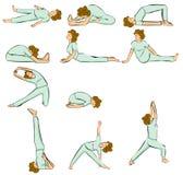 De houdingen van de yoga Stock Fotografie