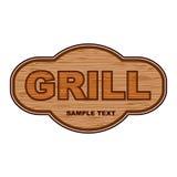 De houten achtergrond van de grill Stock Fotografie