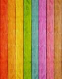 De houten achtergrond van de plankregenboog Royalty-vrije Stock Fotografie