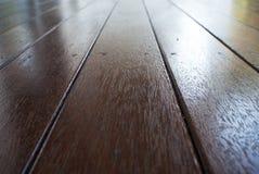 De houten achtergrond van het houtdek Stock Foto