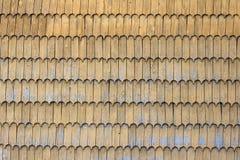 De houten achtergrond van het de textuurpatroon van het dakspaandak stock foto's