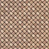 De houten achtergrond van de weefseltextuur Abstracte decoratieve houten geweven mandewerkachtergrond Naadloos patroon Stock Foto's