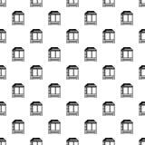 De houten Aziatische naadloze vector van het huispatroon royalty-vrije illustratie