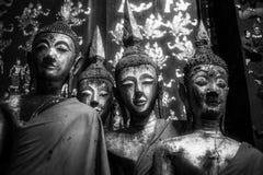 De houten beelden van Boedha Stock Afbeeldingen