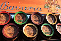 De houten biervatten van Beieren Stock Afbeeldingen