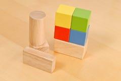 De houten Blokken van het Stuk speelgoed royalty-vrije stock foto