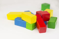 De houten blokken van het stuk speelgoed Stock Afbeelding