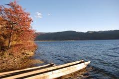 De houten boot van ankers Stock Afbeelding