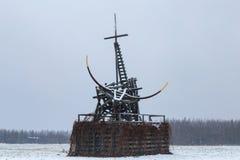 De houten bouw op het gebied Royalty-vrije Stock Foto's