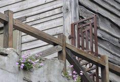 De houten bouw in oude stijl Royalty-vrije Stock Afbeeldingen