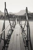 De houten brug Royalty-vrije Stock Afbeeldingen