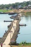 De houten brug van brugmon Stock Fotografie